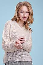 Женский вязаный пуловер-сетка (3335-3336 svt), фото 3