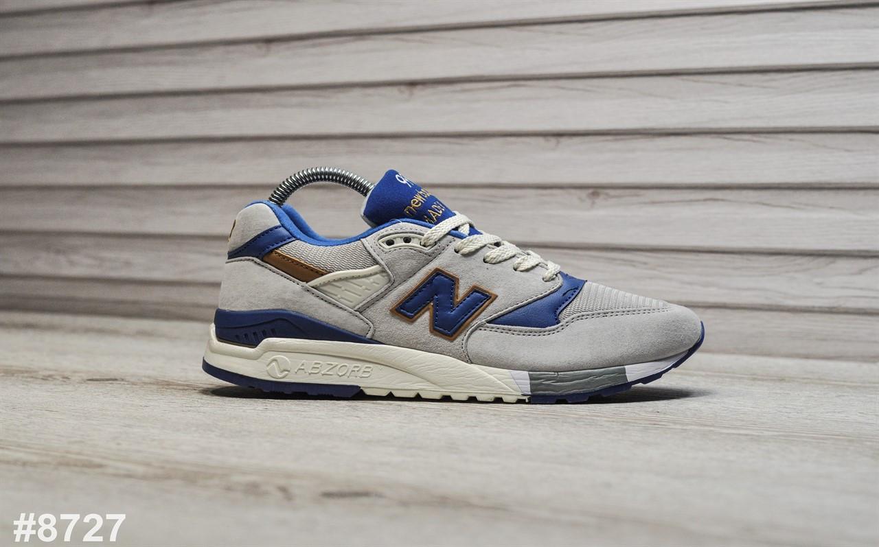 Мужские кроссовки New Balance 998 Light Gray Blue, Реплика