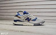 Мужские кроссовки New Balance 998 Light Gray Blue, Реплика, фото 1