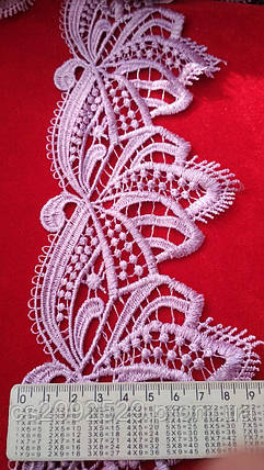 Кружево с ресничками декоративное сирень, фото 2