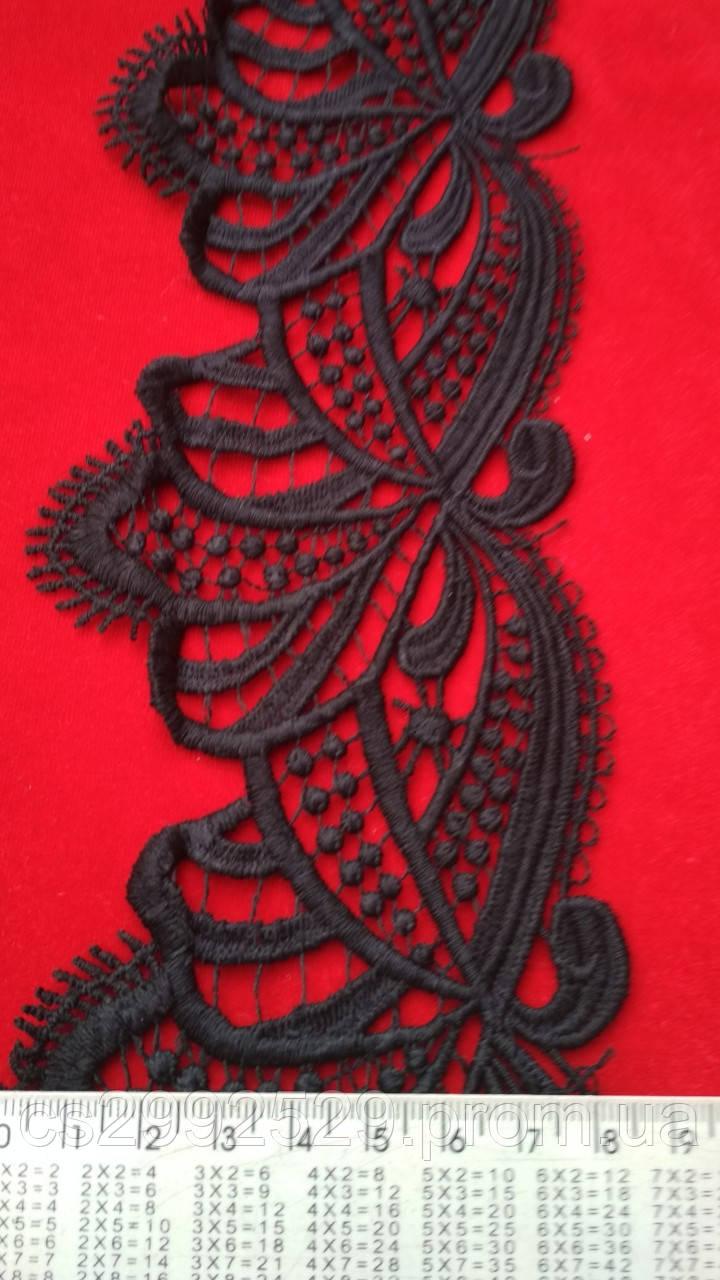 Кружево для декора черное 20 м. Кружево с ресничками