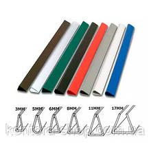 Планки для зажима бумаги 12 мм черные (100 шт.)