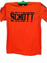 Футболка мужская Schott однотонная с надписью