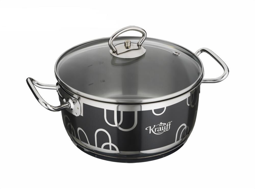 Кастрюля 4.5 л 22 см Krauff 26-158-006 - Mini-Cena - интернет магазин посуды и бытовой техники  в Луцке