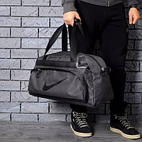 e48dca761405 Непромокаемая сумка найк, Nike для спортазала и путешествий. Коттон. Темно- серая