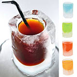 Силіконова форма для льоду (крижана чарка-стопка) - Вlue, фото 2