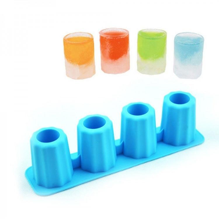 Силіконова форма для льоду (крижана чарка-стопка) - Вlue