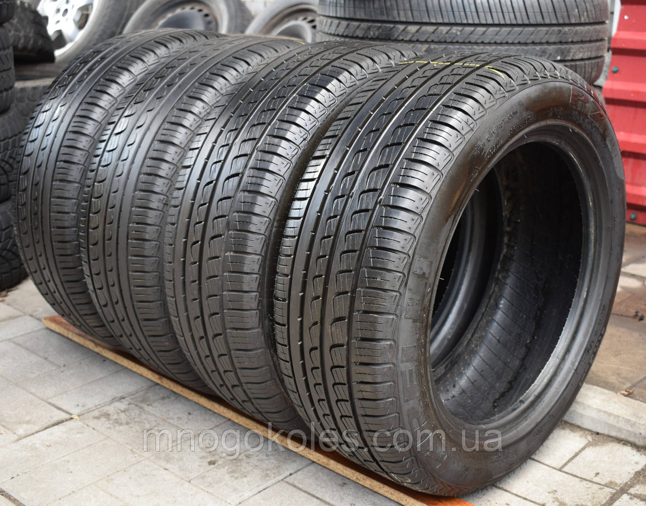 Шины б/у 205/55 R16 Pirelli P7, ЛЕТО, 6 мм, 2016 г., комплект