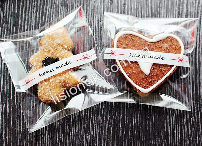 Упаковочный пакет Hand-made 10смХ10см, для подарков, сладостей и изделий ручной работы