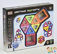 """Конструктор магнитный 2427 Play Smart """"Цветные магниты"""", 9 моделей (30 деталей)"""