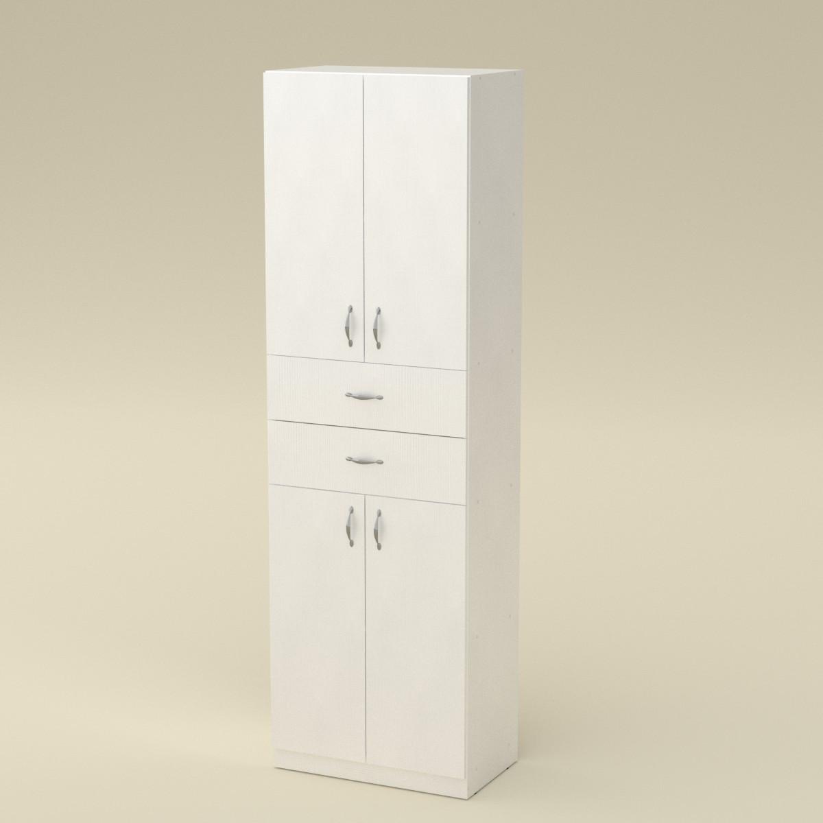 Шкаф книжный КШ-11 нимфея альба (белый) Компанит (60х37х195 см)