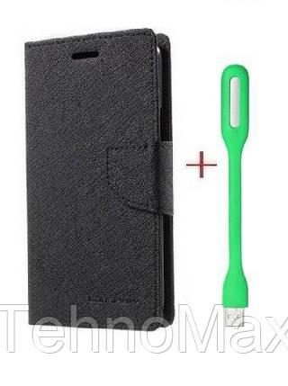 Чехол книжка Goospery для Xiaomi Mi Note 3 + Мини Led-лампа USB (в комплекте). Подарок!!!, фото 2