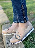 Туфли женские 8 пар в ящике бежевого цвета 36-41, фото 1