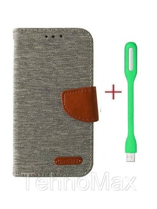 Чехол книжка Goospery для Asus ZenFone Lite (L1) ZA551KL + Мини Led-лампа USB (в комплекте). Подарок!!!