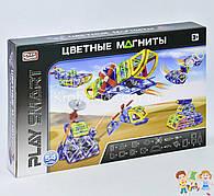 """Конструктор магнитный Play Smart 2429 """"Цветные магниты"""", 7 моделей (54 детали)"""