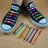 Силиконовые шнурки - ленивки Светящиеся, фото 8