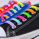 Силиконовые шнурки - ленивки Светящиеся, фото 7