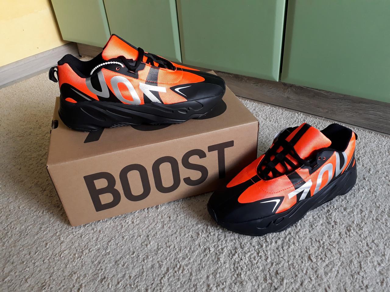 the latest 52c70 98e8d Мужские кроссовки Adidas Yeezy Boost 700 VX Black Orange черные с оранжевым