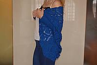 Синий вязаный кардиган ручной работы ′Объятия′