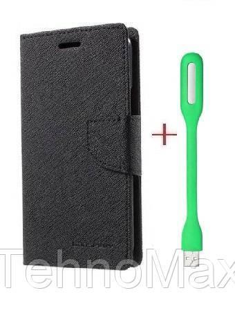 Чехол книжка Goospery для Motorola MOTO X PLAY DUAL SIM + Мини Led-лампа USB (в комплекте). Подарок!!!