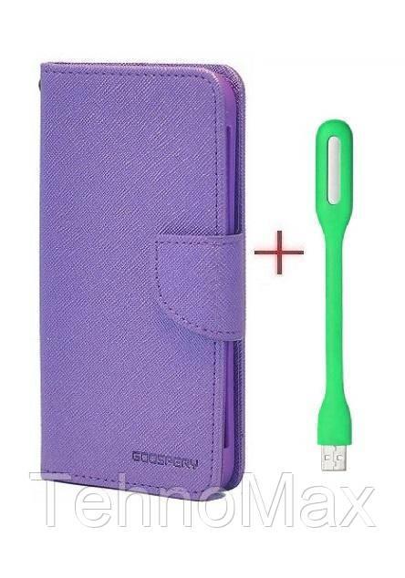 Чехол книжка Goospery для Motorola Moto E Plus (4nd Gen) + Мини Led-лампа USB (в комплекте). Подарок!!!
