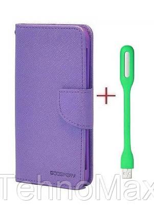 Чехол книжка Goospery для Motorola Moto E Plus (4nd Gen) + Мини Led-лампа USB (в комплекте). Подарок!!!, фото 2