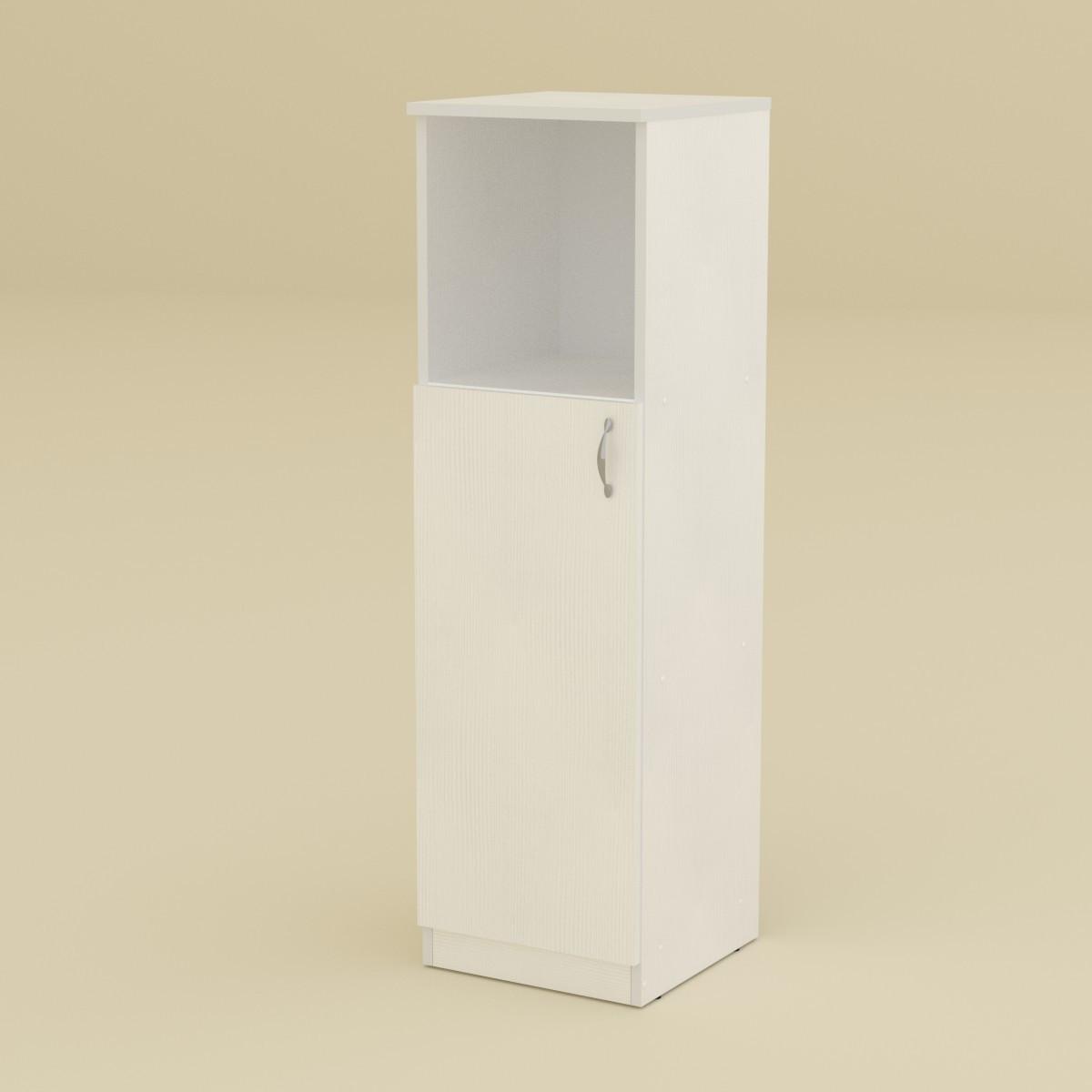 Шкаф книжный КШ-16 нимфея альба (белый) Компанит (36х37х120 см)
