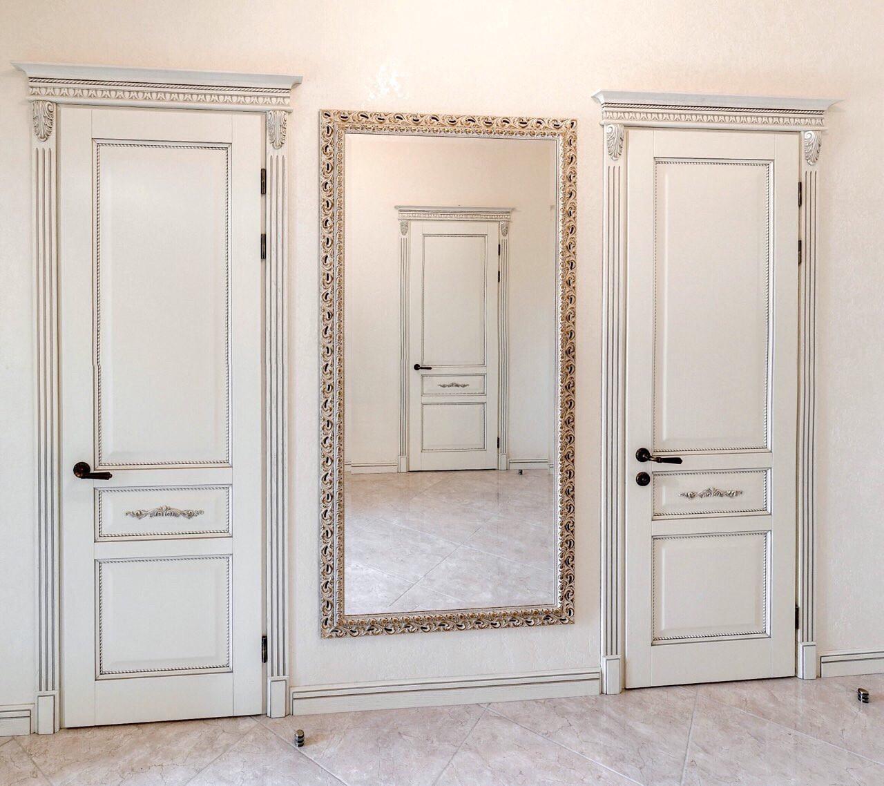 покраска дверей из дерева шпонированные мдф
