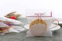 Упаковочный пакет Hand-made-кружево 10смХ10см, для подарков, сладостей и изделий ручной работы, фото 1