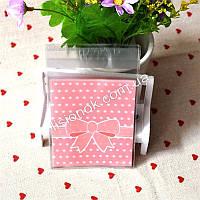 Пакувальний пакет абрикосовий бант 10смХ10см, для подарунків, солодощів та Hand-made виробів, фото 1