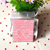 Упаковочный пакет абрикосовый бант 10смХ10см, для подарков, сладостей и и Hand-made изделий, фото 1