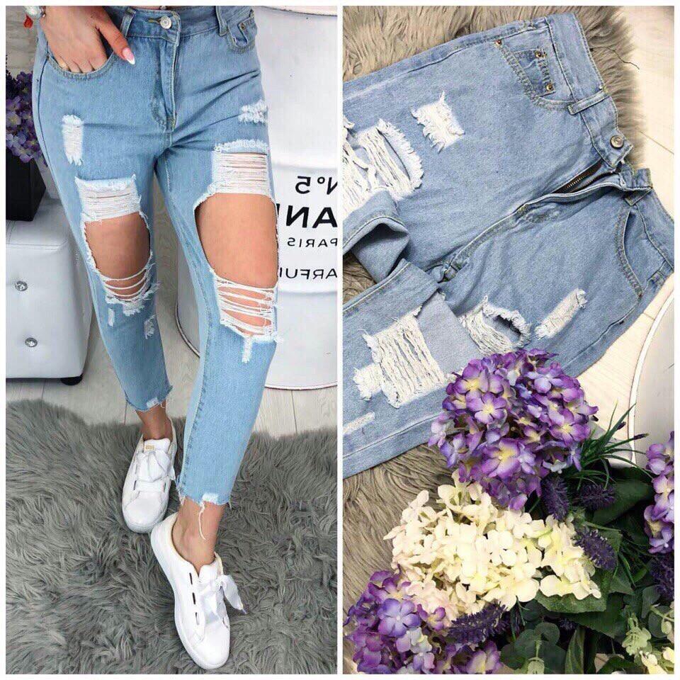 Женские джинсы Фабричный Китай S
