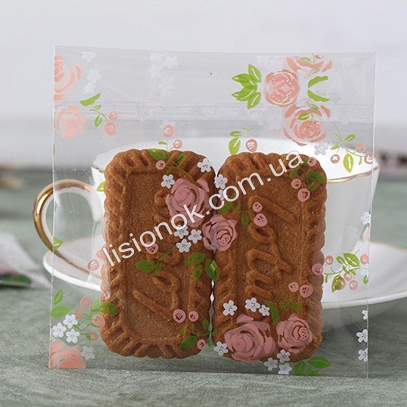 Пакувальний пакет троянди 10смХ10см, для подарунків, солодощів та Hand-made виробів
