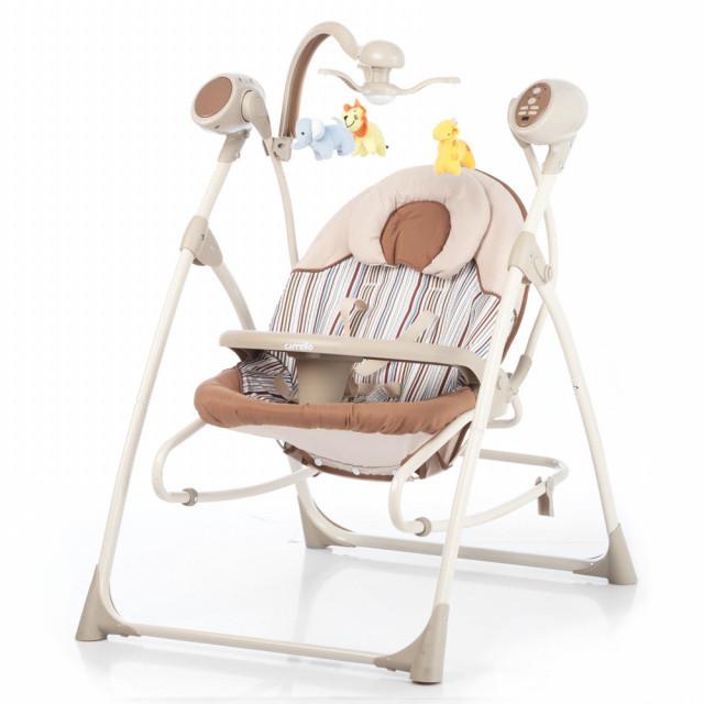 Детская колыбель качели Carello Nanny 3 в 1 CRL-0005 3 положения спинки, 16 мелодий, мобиль, таймер