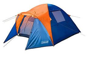 Туристическая палатка Coleman 1011 3-х местная. 2-х слойная. Тамбур