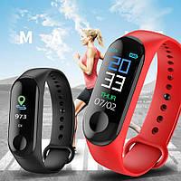 Фитнес браслет M3, умные смарт часы, шагомер пульсометр ДАВЛЕНИЕ, фото 1