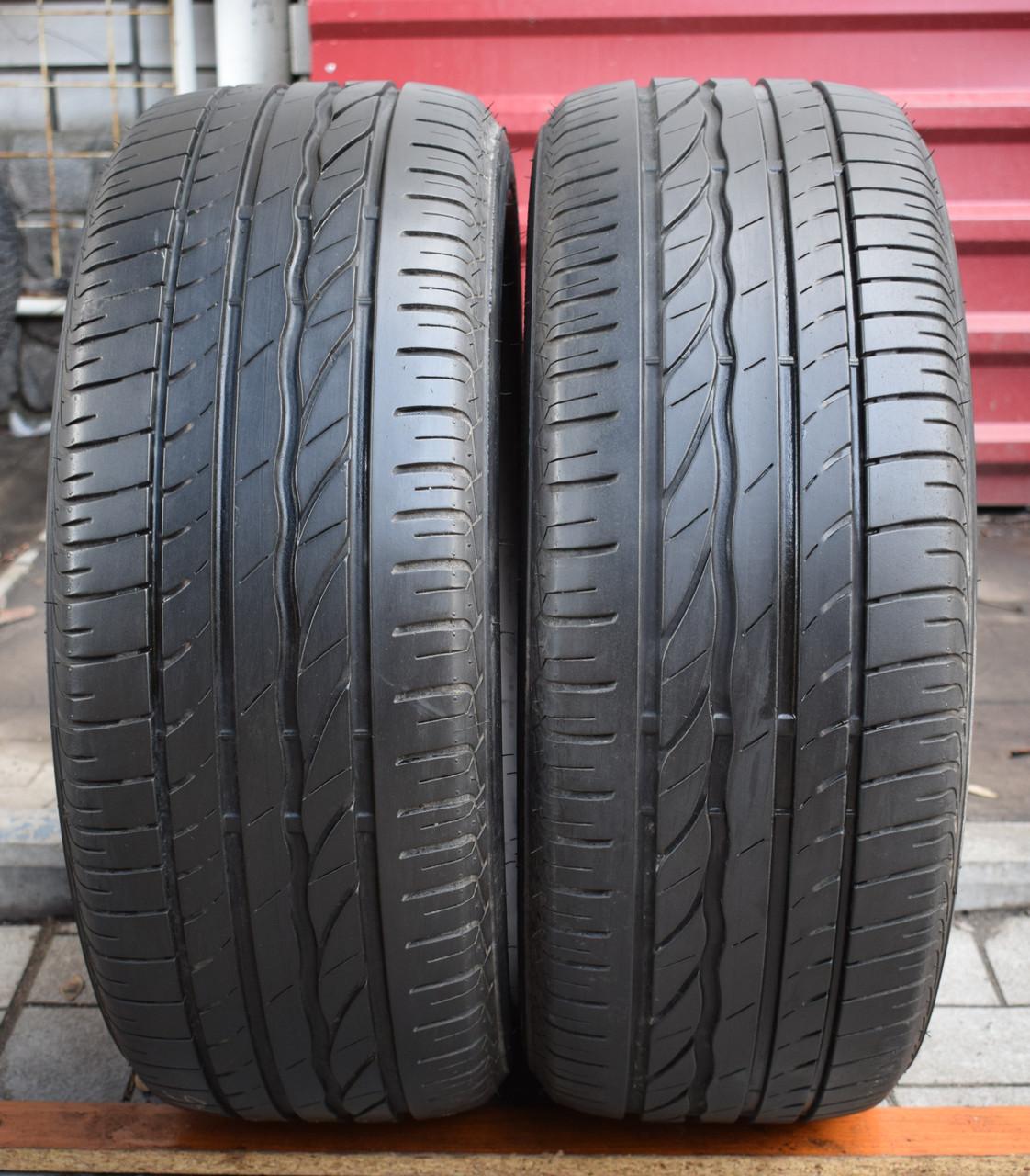 Шины б/у 215/55 R16 Bridgestone Turanza ER300, ЛЕТО, пара, 5-6 мм