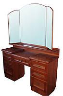 Туалетный столик деревянный с зеркалом 7 ящ. Делфис