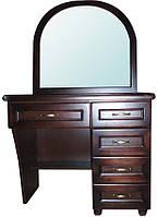 Туалетный столик деревянный с зеркалом Трюмо №2 Делфис
