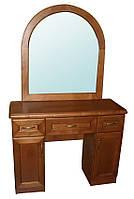 Туалетный столик деревянный с зеркалом Трюмо № 3 Делфис