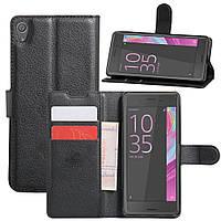 Чехол-книжка Litchie Wallet для Sony Xperia XA F3111 F3112 Черный
