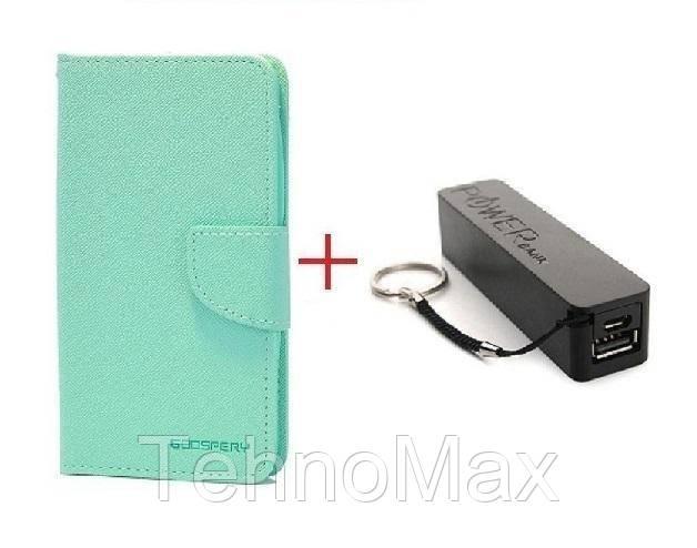 Чехол книжка Goospery для Huawei NOVA 2 + Внешний аккумулятор (Powerbank) 2600 mAh (в комплекте). Подарок!!!