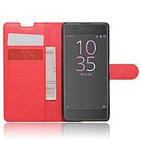 Чехол-книжка Litchie Wallet для Sony Xperia XA F3111 F3112 Красный