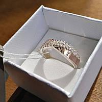 Кольцо Ева серебро с золотом, фото 1