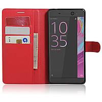 Чехол-книжка Litchie Wallet для Sony Xperia XA Ultra / C6 Ultra F3212 Красный