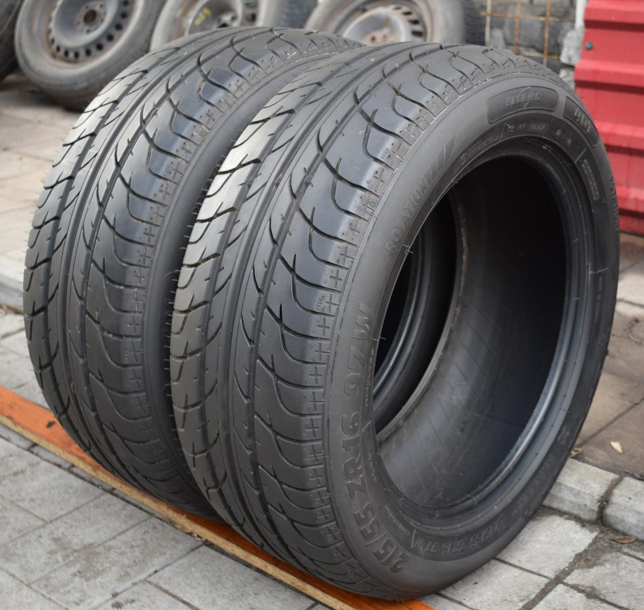 Шины б/у 215/55 R16 Sebring Sporty, ЛЕТО, 2017 г., 6 мм, пара