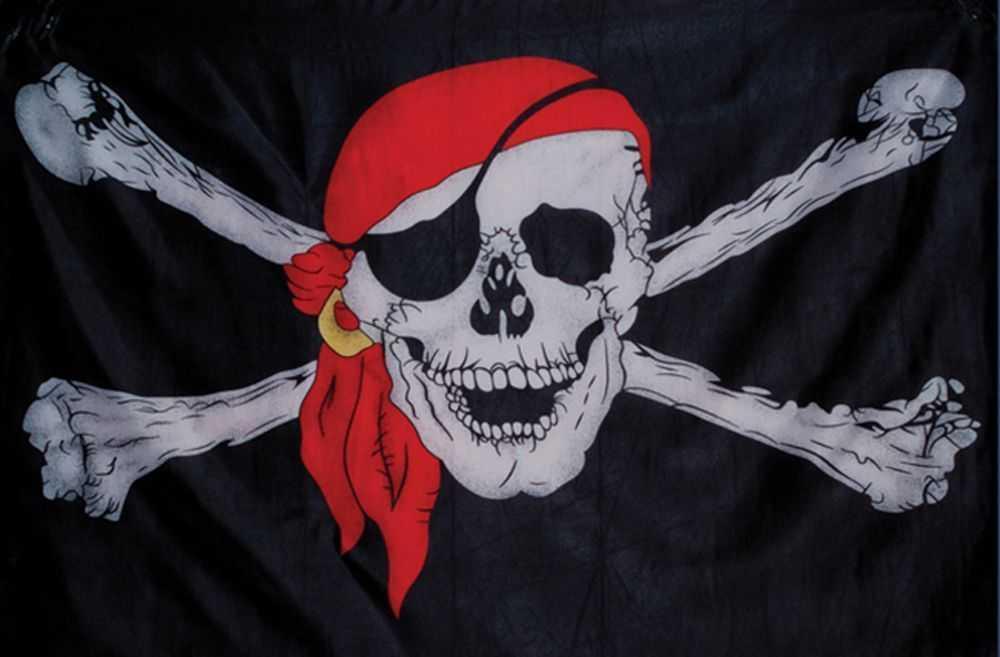 Піратський прапор 90х150 див.