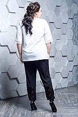Брючный костюм с блузкой больших размеров Гармония 48-82 размер, фото 3
