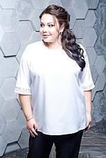 Брючный костюм с блузкой больших размеров Гармония 48-82 размер, фото 2