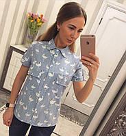 20356ea1110c296 Блузка с фламинго в Украине. Сравнить цены, купить потребительские ...